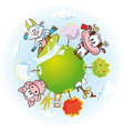 Animal farm land vector