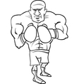 Boxer sportsman cartoon coloring page vector