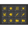 Application interface icons vector