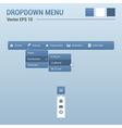Dropdown horizontal menu vector