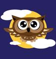 Owl flying vector