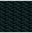 Seamless pattern made of green blue wavy lines vector