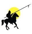Oriental horseman vector