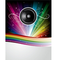 Rainbow disco background vector