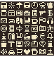 Set of pixel objects seamless background vector