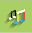 Music icon flat modern design vector