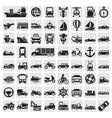 Big transportation icon set vector