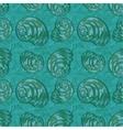 Seamless background seashells vector