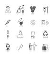 Nurse icon set vector