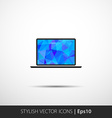 Polygonal laptop vector