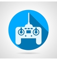 Radio remote controller flat icon vector