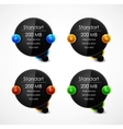 Black speech bubble web boxes vector