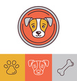 Dog icons and logos vector
