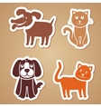 Funny dogs and cats vector
