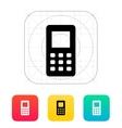 Mobile phone screen icon vector