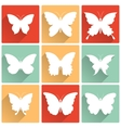 Isolated butterflies icons set vector