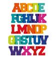Bright spectrum alphabet vector