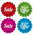 Sale and special offer price tags set vector