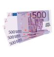 500 euro bills vector