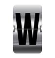 Alphabet silver flipboard letters w vector