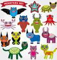 Cute cartoon monsters set big collection on a vector