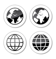 Globe earth icons as labels vector