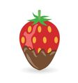 Strawberry in chocolate vector