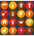 Africa icons set flat vector