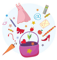 Bag objects vector