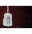 Military dog tags vector