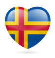 Heart icon of aland islands vector