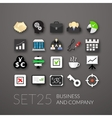 Flat icons set 25 vector