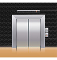 Passenger elevator with closed doors vector