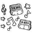 Scribble series - cassette vector