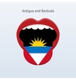 Antigua and barbuda language abstract human tongue vector