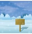 Winter landscape sign vector