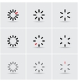 Set of progress indicators vector