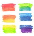 Set of rainbow watercolor banners vector