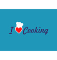I love cooking vector