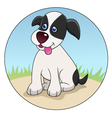 Funny dog cartoon vector
