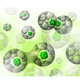 Cell division background vector