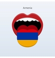 Armenia language abstract human tongue vector