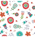 Floral seamless pattern with bright colors vector