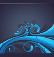 Web background blue wave vector