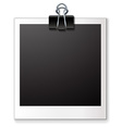 Single blank photo vector