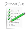 Success check list vector