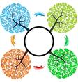 Seasons tree with arrows vector
