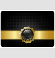 Black vip card vector