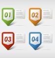 Colorful set progress icons vector