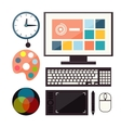 Set of colorful graphic web design icons vector